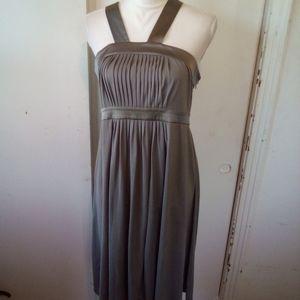 Banana republic gray silk dress size 10